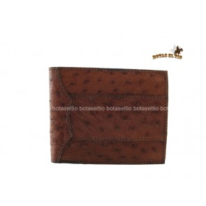 CARTERA  ORIGINAL AVESTRUZ 3 PIEZAS CAFE